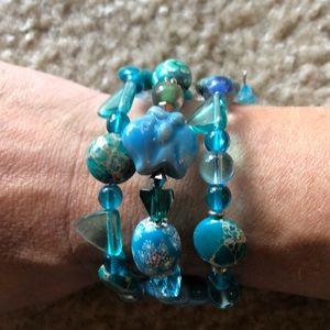 Jewelry - 🐟 Czech glass porcelain fish bracelet